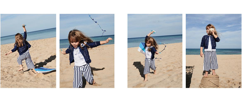 Fashion girl carefree smells of sea