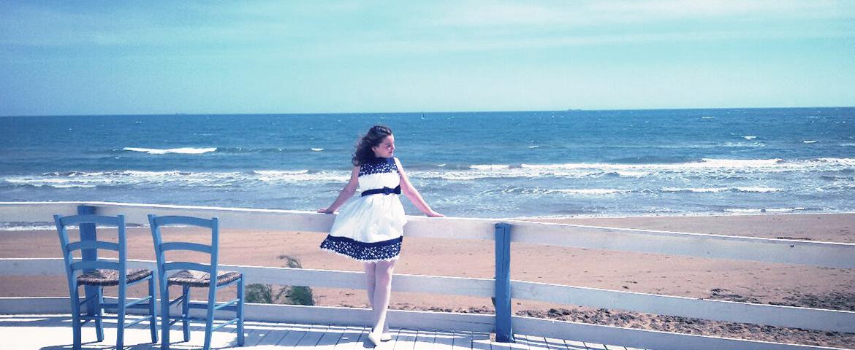 Il mare ispira l'abbigliamento estivo per bambine di Elsy